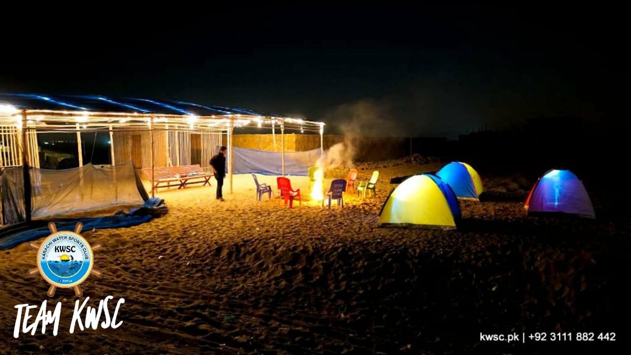 Beach Night Camping - Karachi Water Sports Club